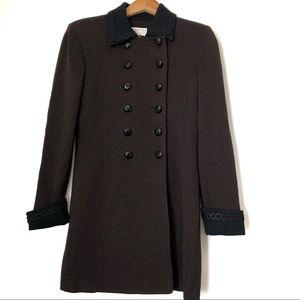 ST JOHN collection Vintage knit brown jacket SZ 4